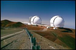 Keck 1 and 2 on Mauna Kea